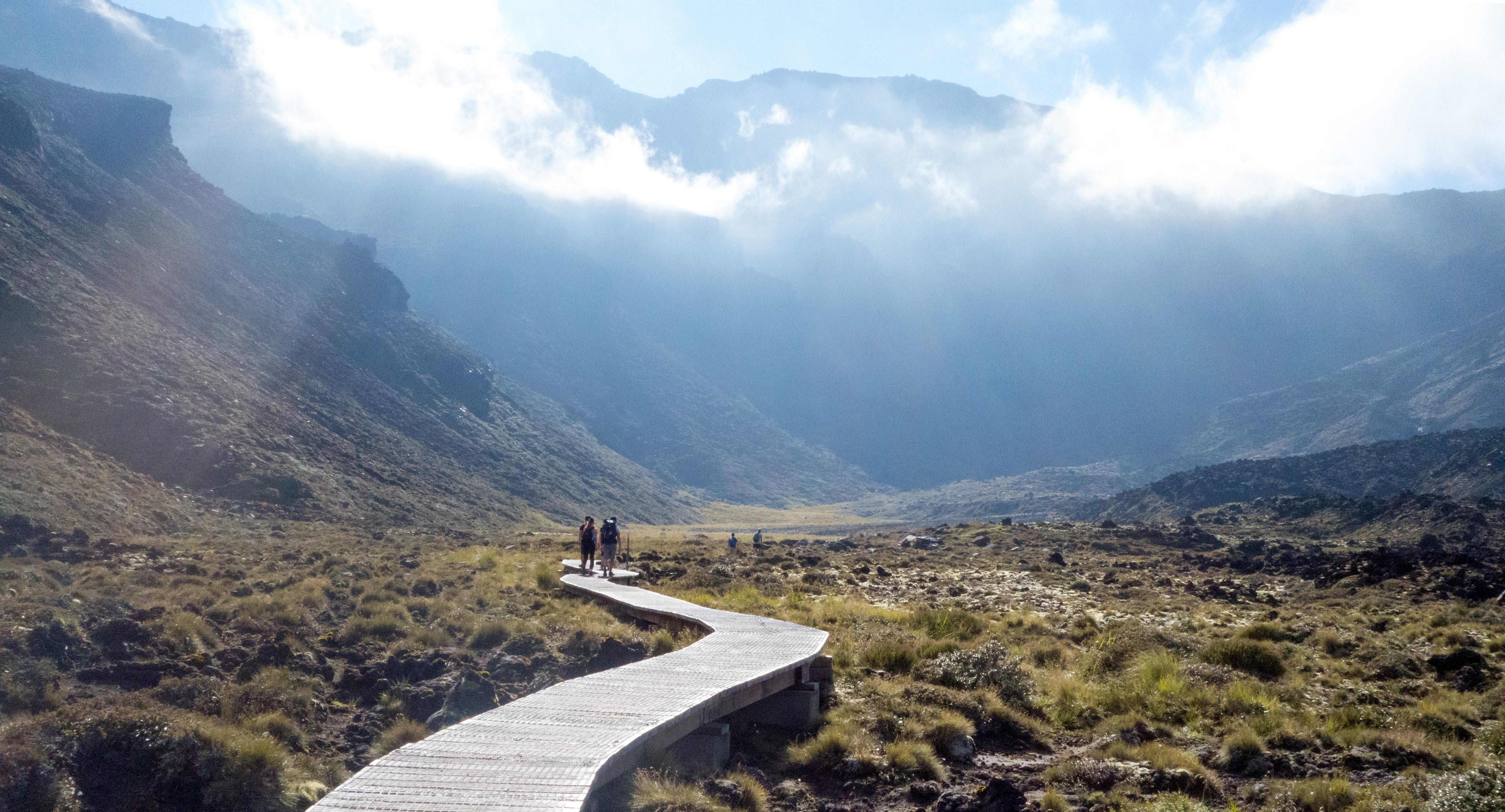 The Tongariro Crossing in New Zealand